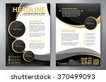 brochure design a4 template.... | Shutterstock .eps vector #370499093
