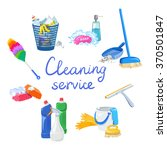 cleaning service elements... | Shutterstock .eps vector #370501847