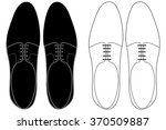 Men Shoes Top View.  Vector...