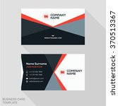 creative business card vector... | Shutterstock .eps vector #370513367