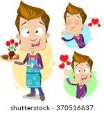 cartoon character vector set of ...   Shutterstock .eps vector #370516637