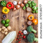 fresh and healthy organic... | Shutterstock . vector #370518077