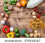 fresh and healthy organic... | Shutterstock . vector #370518167