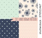 set of seamless patterns with... | Shutterstock .eps vector #370521467
