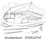 architecturallinear sketch... | Shutterstock .eps vector #370523747