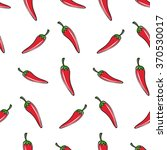 seamless pattern. red chili... | Shutterstock .eps vector #370530017