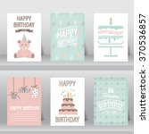 birthday  greeting and... | Shutterstock .eps vector #370536857