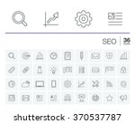 vector thin line rounded icons... | Shutterstock .eps vector #370537787