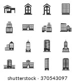 buildings symbol for web icons | Shutterstock .eps vector #370543097