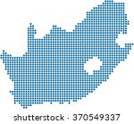 blue circle shape south africa... | Shutterstock .eps vector #370549337