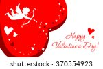 red greeting card with angel... | Shutterstock .eps vector #370554923