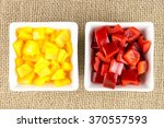 Bowls Of Bright Yellow And Red...