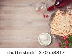 Passover Background With Matza...