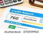 credit score report with...   Shutterstock . vector #370559903