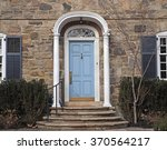 stone faced house with portico... | Shutterstock . vector #370564217