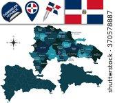 vector map of dominican...