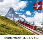 swiss beauty  rack railway...   Shutterstock . vector #370579517