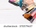 various make up products on... | Shutterstock . vector #370579637