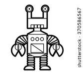 vector line style robot... | Shutterstock .eps vector #370586567