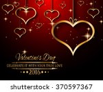 valentine's day background for... | Shutterstock .eps vector #370597367