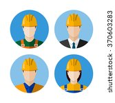 set of builders avatars.... | Shutterstock . vector #370603283