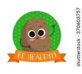 potato  cute vegetable vector... | Shutterstock .eps vector #370603757