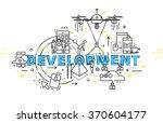 flat style  thin line art... | Shutterstock .eps vector #370604177