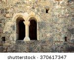 castle window in a medieval... | Shutterstock . vector #370617347