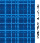 knitted pattern in a cage   Shutterstock .eps vector #370623683