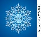 single white large detailed... | Shutterstock .eps vector #37062841