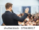 speaker at business conference... | Shutterstock . vector #370638017