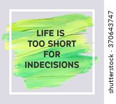 motivation typographic poster.... | Shutterstock .eps vector #370643747