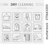 dry cleaning services. vector... | Shutterstock .eps vector #370661003