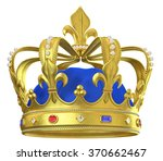 gold crown with jewels | Shutterstock . vector #370662467