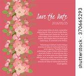 floral rosehip retro vintage... | Shutterstock .eps vector #370665293