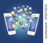 vector illustration of mobile... | Shutterstock .eps vector #370673213
