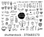 doodle design elements.... | Shutterstock .eps vector #370683173
