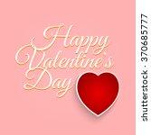 valentines day vintage... | Shutterstock . vector #370685777