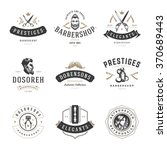barber shop logos vector... | Shutterstock .eps vector #370689443