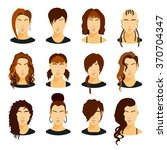 flat icons collection of... | Shutterstock .eps vector #370704347