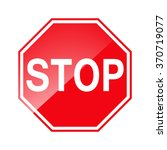 vector stop sign icon | Shutterstock .eps vector #370719077