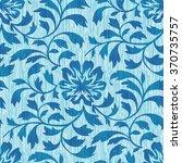 oriental foliage pattern... | Shutterstock .eps vector #370735757
