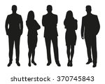 business people  set of vector... | Shutterstock .eps vector #370745843