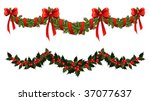 christmas garlands | Shutterstock .eps vector #37077637