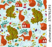 vector seamless autumn pattern... | Shutterstock .eps vector #370781393
