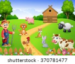 farmer working in the farm | Shutterstock . vector #370781477
