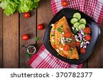 Omelet With Tomatoes  Parsley...