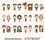 boy and girl characters | Shutterstock .eps vector #370785407