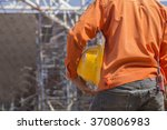 engineer on construction site | Shutterstock . vector #370806983