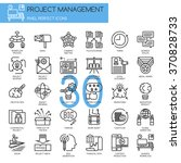 project management   thin line... | Shutterstock .eps vector #370828733